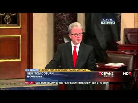 12.27.2012 Senator Tom Coburn - Hurricane Sandy Emergency Funding