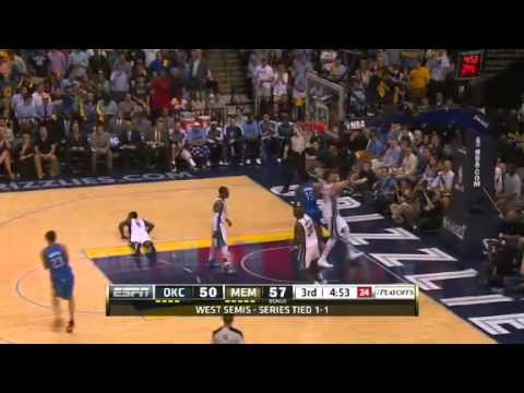 NBA CIRCLE - Oklahoma City Thunder Vs Memphis Grizzlies Game 3 Highlights - 11 May 2013 NBA Playoffs