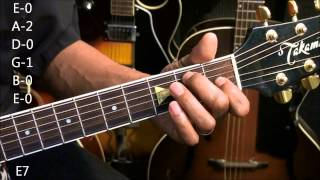 EASY 12 Bar Blues Chord TABS #230 Guitar Chord Form Tutorial EricBlackmonmusic