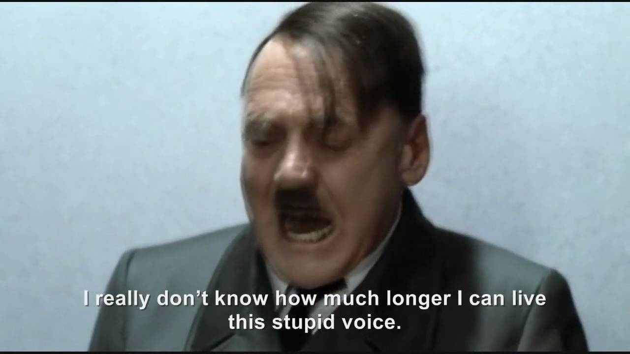 Hitler's mouse voice rant