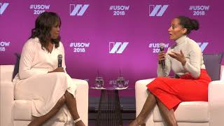 Michelle Obama & Tracee Ellis Ross in Conversation at The 2018 United State of Women Summit