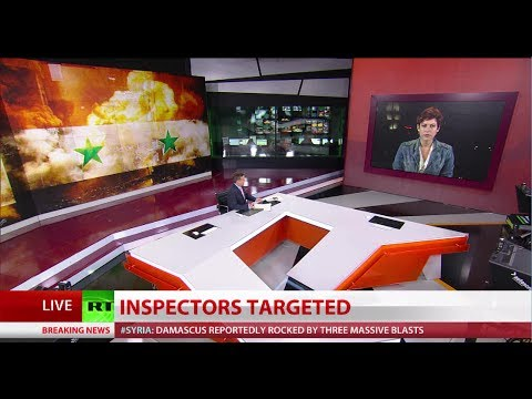 Syrian TV, chemical inspectors' hotel targeted in bomb attacks in Damascus