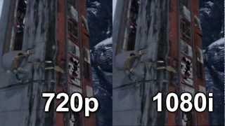 720p vs 1080i Comparison (Uncharted 2)