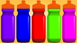 Colors Water Bottle   Video for Children and Babies   Animated Cartoon