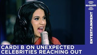 Cardi B on unexpected celebrities reaching out including Bono, Green Day, and more