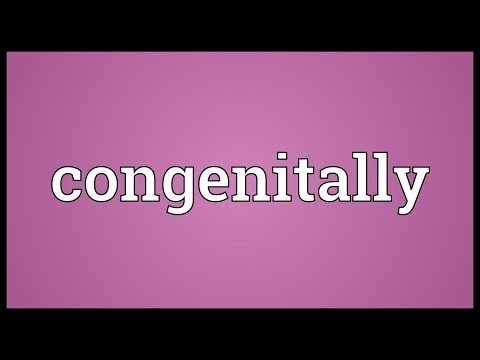 Header of congenitally