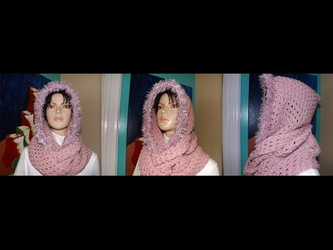 Crochet Bufanda Circular Con Capucha