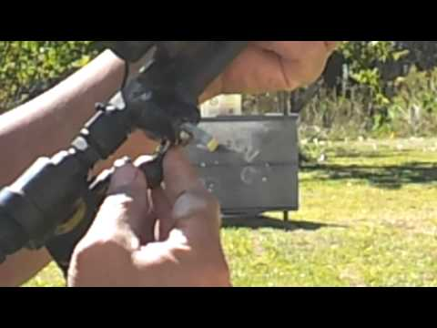Homemade 36 caliber rifle or #000 shotgun pcp 400 psi 22 shot magazine Girandoni