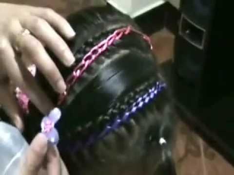 Deadema combinada con balaca peinados para niña paso a paso