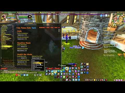 WoW Addons- Tidy Plates , Custom Nameplates