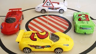 RC Toys Car - Driving 4 toys car colors on the city road