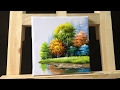How to paint trees and bushes in acrylics  part 3
