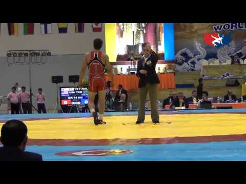 2012 Junior Worlds - GR 74kg - Geordan Speiller (USA) vs. Doyran Yaylymov (TKM)