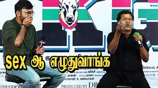 First Night பாட்டு அது | Mayilsamy Ultimate Comedy Speech | LKG Press Meet