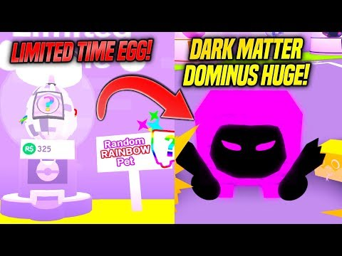 *NEW* DARK MATTER PETS AND LIMITED TIME RAINBOW EGG IN PET SIMULATOR UPDATE!! (Roblox)