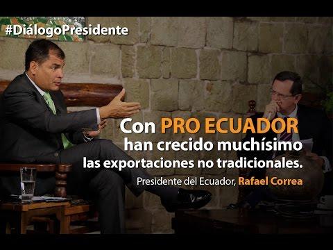 Presidente del Ecuador, Rafael Correa en diálogo con medios