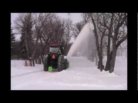 Schulte RDX102 with FM300 Front Mount Snow Blower