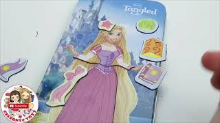 Disney Frozen Elsa Anna Magnetic Paper Dolls Disney Princess Dresses Ariel Cinderella Toy