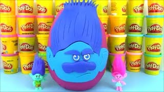 Dreamworks Trolls Movie Branch Giant Playdoh Surprise Egg