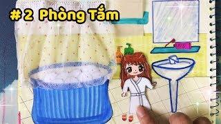 Giới thiệu và hướng dẫn làm NGÔI NHÀ BÚP BÊ 🏡bằng giấy P2 (PHÒNG TẮM) - Paper Doll house