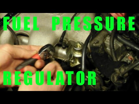 change FUEL pressure REGULATOR replacement how to DIY - GM 3100 and 3400 v6 engine cars