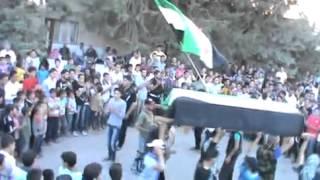 خربة غزالة: جنازة الشهيدة منى علي الشبلاق جـ1 26-5-2012