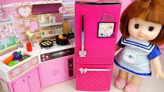 Baby doll and kitchen cooking food toys baby Doli play
