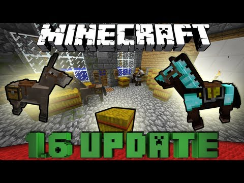 Minecraft 1.6 UPDATE - PFERDE. ESEL. FLIEGENDE TIERE!! - Snapshot 13w16a Review [Full-HD Deutsch]