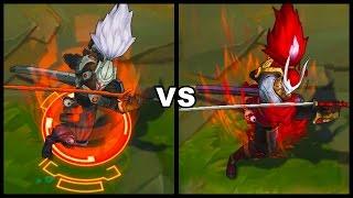 PROJECT: Yasuo vs Blood Moon Yasuo Skins Comparison (League of Legends)