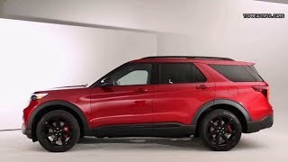 2020 Ford Explorer ST Red Interior and Exterior