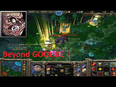 DotA 6.83c - Pudge, Butcher Beyond GODLIKE ! #3