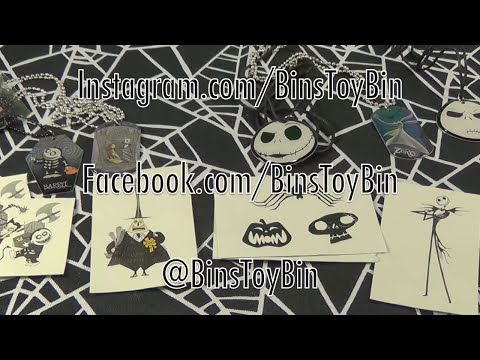 Nightmare Before Christmas Dog Tags Mystery Blind Bags! Opening by Bin's Toy Bin