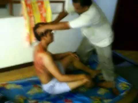 pijatan gila n kerokan sampai gosong / Traditional therapy of Indonesia