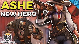 Ashe Overwatch Gameplay - Overwatch's New Hero Ashe First Impressions from a Paladins Player!