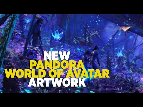 NEW Pandora World of Avatar artwork with Na'vi River Journey at Walt Disney World