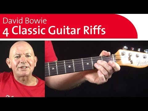 4 Classic David Bowie Guitar Riffs | Warm Up Session