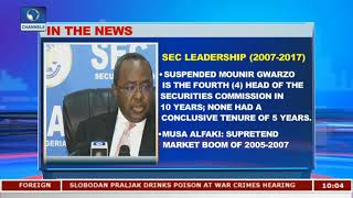 Mounir Gwarzo Suspended As SEC Head Pt.1 |Business Morning|