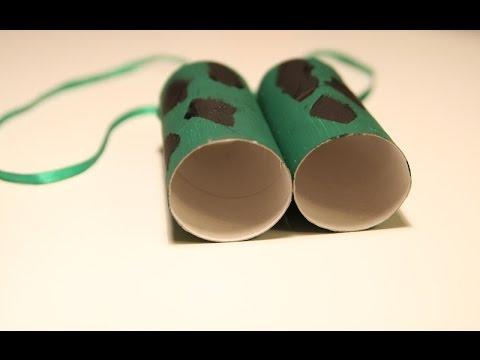 Как сделать детский бинокль своими руками из рулонов от бумаги