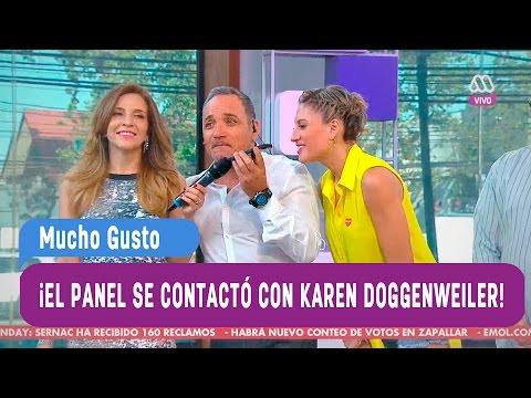 El panel se comunicó con Karen Doggenweiler - Mucho Gusto 2016