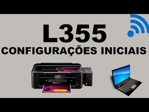 L355 Epson - Configurar Wi Fi e Testes