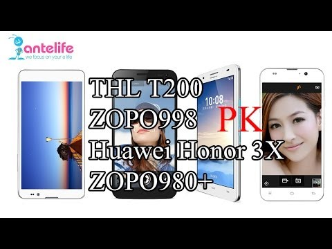 Octacore Thl T200 Vs Zopo998 Vs Honor 3x Vs Zopo980+ Antutu Test &need For Speed video