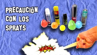 ✔ PRECAUCIÓN, con los Sprays BOOM  | CAUTION, with BOOM Sprays