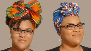 How To Do 4 Easy Headwrap Styles