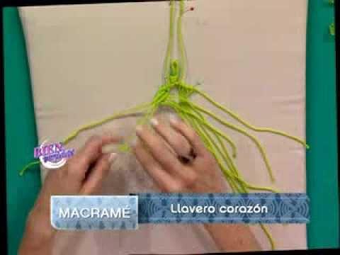 Patricia Belvedere - Bienvenidas TV - Realiza llaveros corazón en macramé