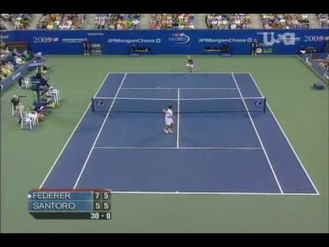 Federer vs Santoro US OPEN R2 2005