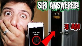 (SIRI IS IN MY ROOM?!) I TRIED CALLING FREDDY FAZBEAR AT 3 AM BUT SIRI ANSWERED INSTEAD (SIRI FOUND)