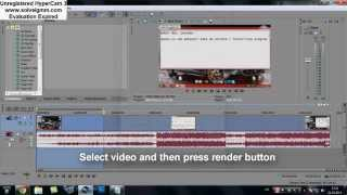 How to render video to small size; Sony vegas pro 11 (HD)