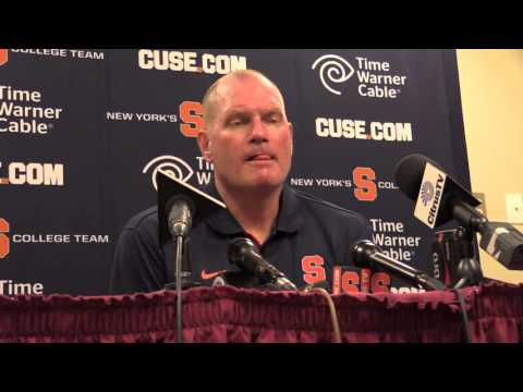 Syracuse football coach Scott Shafer's post-game press conference : 10/31/15 - Florida State: Decisi