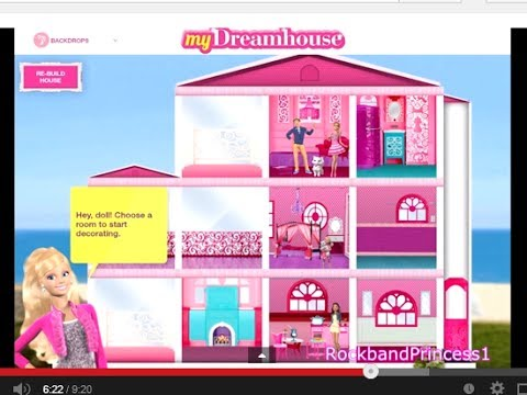 Barbie life in the dreamhouse barbie games for girls and I want to design my own home online