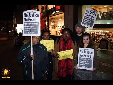 Vigil for Justice for Mark Duggan   Birmingham 2014